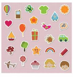 Children stickers vector