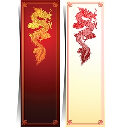 Chinese dragon banner vector