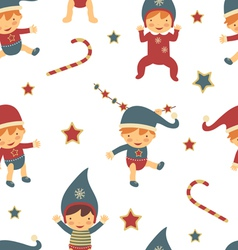Christmas babies pattern vector