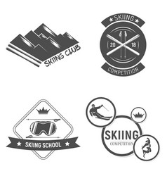 collection of ski club logos emblems and symbols vector image