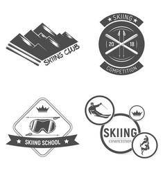 Collection ski club logos emblems and symbols vector