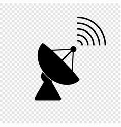 communication satellite antenna vector image