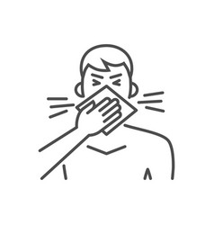 cough related thin line icon vector image