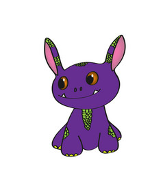 cute little monster vector image