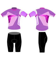 Cycling vest woman style vector image