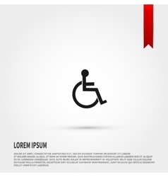 Disabled icon Flat design style Template for vector image