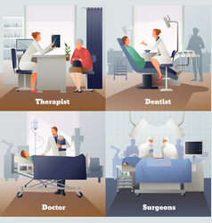 Doctor and patient gradient compositions vector