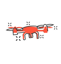 drone quadrocopter icon in comic style quadcopter vector image