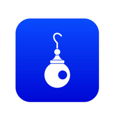 Earring icon digital blue vector