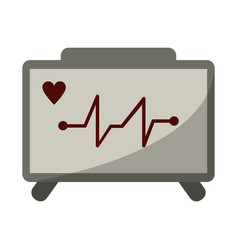 ecg heart machine medical device vector image