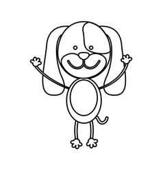 figure teddy dog icon vector image