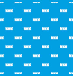 film strip pattern seamless blue vector image