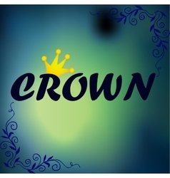 Flat crown Icon vector