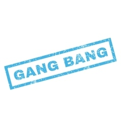 Gang Bang Rubber Stamp vector