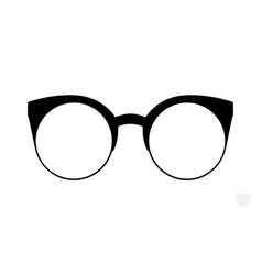 Glasses accessory art black collection cool flat vector