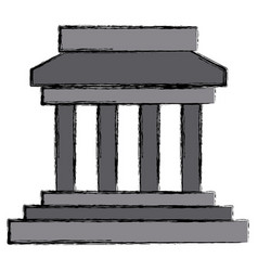 Greek building symbol vector