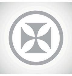 Grey maltese cross sign icon vector