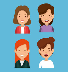 group of women friends characters vector image