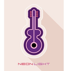 guitar on light with shadow vector image