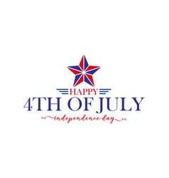 happy 4th july fourth july independence vector image