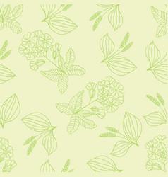 herbal pattern 1 vector image