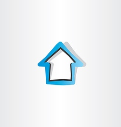 House blue logo symbol element design vector