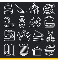 Icons lines set vector