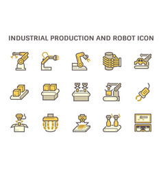 industrial production icon such as robot vector image