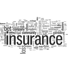 Insurance and ethics vector