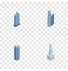 Isometric skyscraper set of skyscraper cityscape vector