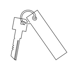 Keys with keychain icon of vector