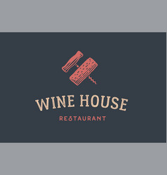 Label of wine restaurant vector