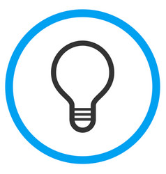 Lamp bulb rounded icon vector