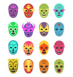Lucha libre mask martial wrestler fighter clothes vector