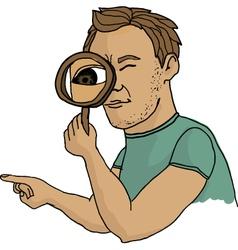 Man seeking vector