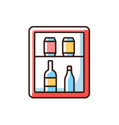 Mini bar rgb color icon vector