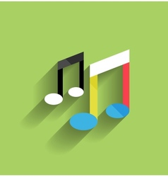 music icon flat modern design vector image