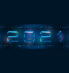 New 2021 year header light background technology vector