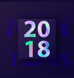 new year card 2018 vector image