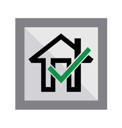 Okay Home Icon vector