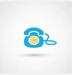 Phone colorful icon vector