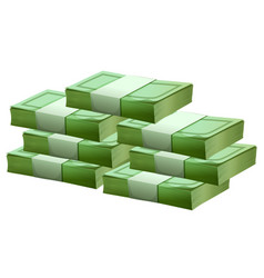 pile of cash on white background vector image