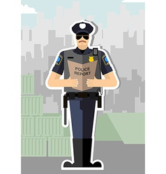 Police with a report of a standing ovation Police vector image