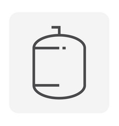 Pressure tank icon vector