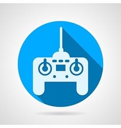 Radio remote controller flat icon vector image