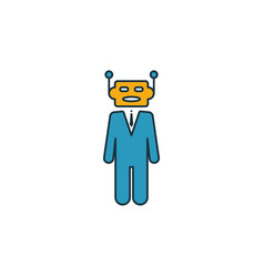 Robo-advisors icon set four elements in different vector