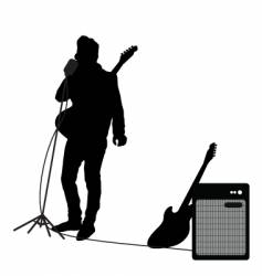rocker at mic vector image