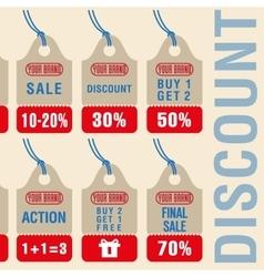 Sale discount labels set vector