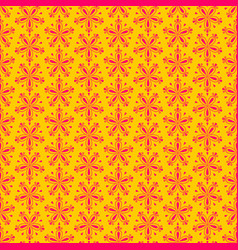 seamless floral pattern with red flowers on yellow vector image