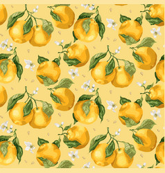 seamless pastel color pattern with orange fruit vector image